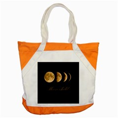 Moon Child Accent Tote Bag by Valentinaart