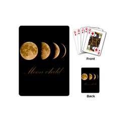 Moon Child Playing Cards (mini)  by Valentinaart
