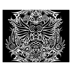 Tattoo Tribal Owl Rectangular Jigsaw Puzzl by Valentinaart
