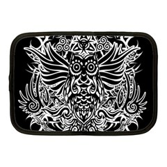 Tattoo Tribal Owl Netbook Case (medium)