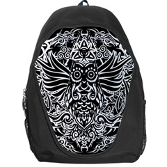 Tattoo Tribal Owl Backpack Bag by Valentinaart