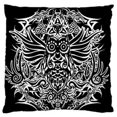 Tattoo Tribal Owl Standard Flano Cushion Case (two Sides)