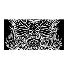 Tattoo Tribal Owl Satin Wrap by Valentinaart