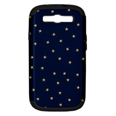 Navy/gold Stars Samsung Galaxy S Iii Hardshell Case (pc+silicone) by Colorfulart23