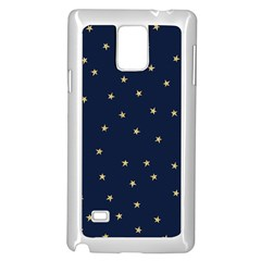 Navy/gold Stars Samsung Galaxy Note 4 Case (white) by Colorfulart23