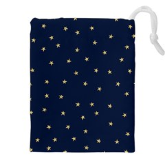 Navy/gold Stars Drawstring Pouches (xxl) by Colorfulart23