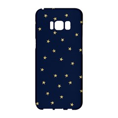 Navy/gold Stars Samsung Galaxy S8 Hardshell Case  by Colorfulart23