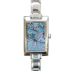 Another Modern Moment Aqua Rectangle Italian Charm Watch by MoreColorsinLife