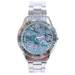 Another Modern Moment Aqua Stainless Steel Analogue Watch by MoreColorsinLife