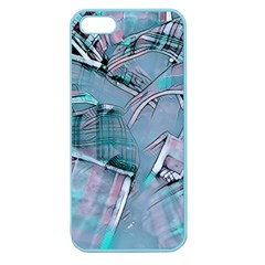 Another Modern Moment Aqua Apple Seamless Iphone 5 Case (color) by MoreColorsinLife