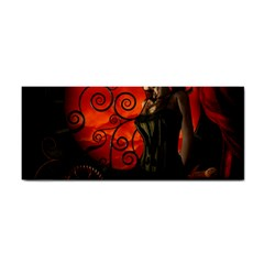 Steampunk, Wonderful Steampunk Lady In The Night Hand Towel