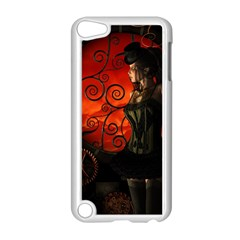 Steampunk, Wonderful Steampunk Lady In The Night Apple Ipod Touch 5 Case (white) by FantasyWorld7