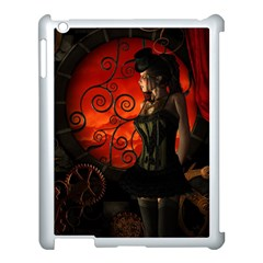 Steampunk, Wonderful Steampunk Lady In The Night Apple Ipad 3/4 Case (white) by FantasyWorld7