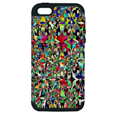 Psychedelic Background Apple Iphone 5 Hardshell Case (pc+silicone) by Colorfulart23