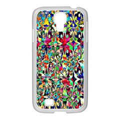 Psychedelic Background Samsung Galaxy S4 I9500/ I9505 Case (white) by Colorfulart23