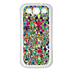 Psychedelic Background Samsung Galaxy S3 Back Case (white) by Colorfulart23