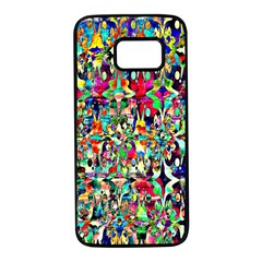 Psychedelic Background Samsung Galaxy S7 Black Seamless Case by Colorfulart23