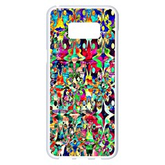 Psychedelic Background Samsung Galaxy S8 Plus White Seamless Case by Colorfulart23