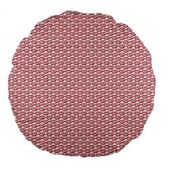 Kisspattern 01 Large 18  Premium Round Cushions by paulaoliveiradesign