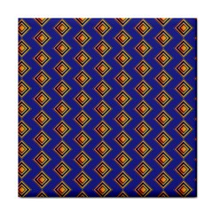 Blue Geometric Losangle Pattern Tile Coasters by paulaoliveiradesign