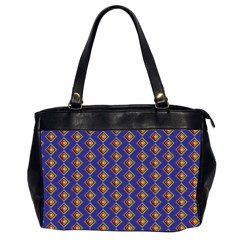 Blue Geometric Losangle Pattern Office Handbags (2 Sides)  by paulaoliveiradesign