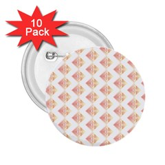 Geometric Losangle Pattern Rosy 2 25  Buttons (10 Pack)  by paulaoliveiradesign