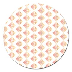 Geometric Losangle Pattern Rosy Magnet 5  (round)