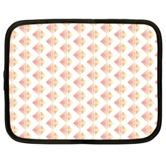 Geometric Losangle Pattern Rosy Netbook Case (large) by paulaoliveiradesign