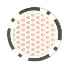 Geometric Losangle Pattern Rosy Poker Chip Card Guard (10 Pack) by paulaoliveiradesign