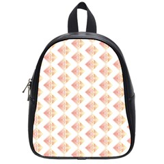 Geometric Losangle Pattern Rosy School Bags (small)  by paulaoliveiradesign