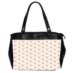 Geometric Losangle Pattern Rosy Office Handbags (2 Sides)  by paulaoliveiradesign