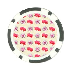 Yellow Floral Roses Pattern Poker Chip Card Guard (10 Pack) by paulaoliveiradesign
