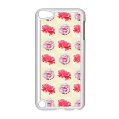 Yellow Floral Roses Pattern Apple Ipod Touch 5 Case (white) by paulaoliveiradesign