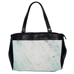 Greenish Marble Texture Pattern Office Handbags (2 Sides)  by paulaoliveiradesign