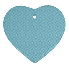 Blue Pattern Heart Ornament (two Sides) by paulaoliveiradesign