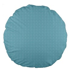 Blue Pattern Large 18  Premium Round Cushions by paulaoliveiradesign