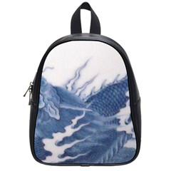 Blue Chinese Dragon School Bags (small)  by paulaoliveiradesign