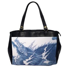 Blue Chinese Dragon Office Handbags (2 Sides)  by paulaoliveiradesign
