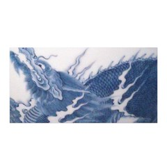 Blue Chinese Dragon Satin Wrap by paulaoliveiradesign