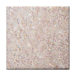 White Sparkle Glitter Pattern Tile Coasters by paulaoliveiradesign