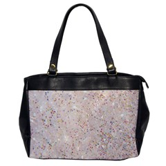White Sparkle Glitter Pattern Office Handbags by paulaoliveiradesign