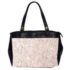 White Sparkle Glitter Pattern Office Handbags (2 Sides)  by paulaoliveiradesign