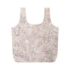 White Sparkle Glitter Pattern Full Print Recycle Bags (m)  by paulaoliveiradesign
