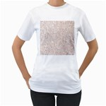 white sparkle glitter pattern Women s T-Shirt (White)  Front