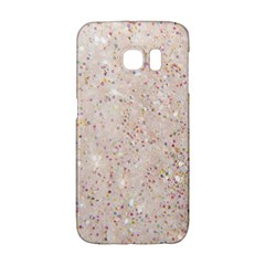White Sparkle Glitter Pattern Galaxy S6 Edge by paulaoliveiradesign