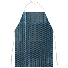 Blue Sparkly Sequin Texture Full Print Aprons by paulaoliveiradesign