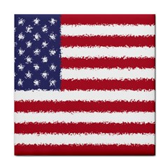 Flag Of The United States America Tile Coasters by paulaoliveiradesign
