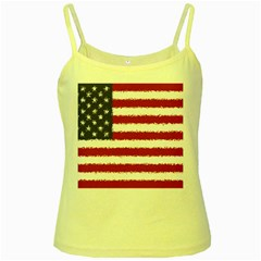 Flag Of The United States America Yellow Spaghetti Tank