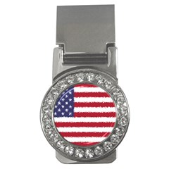 Flag Of The United States America Money Clips (cz)  by paulaoliveiradesign