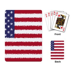 Flag Of The United States America Playing Card by paulaoliveiradesign